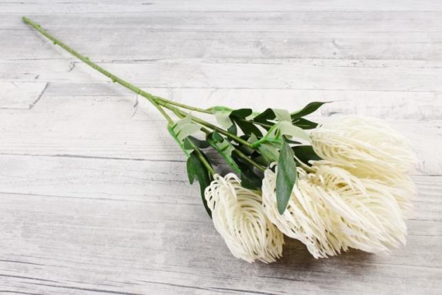 Искусственное растение - Протея  белая ZQ017