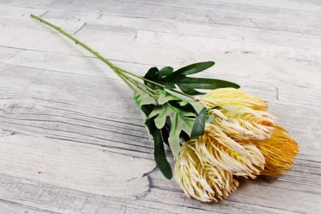 Искусственное растение - Протея   жёлтая ZQ017
