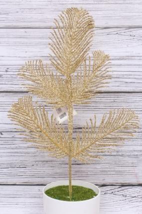 Искусственное растение - Пятилистник мерцающий Н=43 см В2622