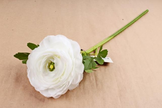Искусственное растение - Ранункулюс  белый SUN522