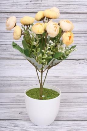 Искусственное растение - Ранункулюс бутоны жёлтые. 30 см.