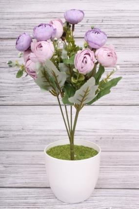 Искусственное растение - Ранункулюс бутоны сиреневые. 30 см.