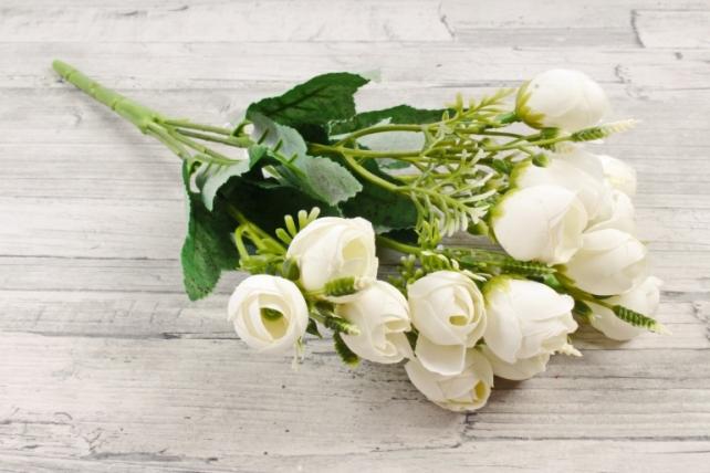 Искусственное растение - Ранункулюс Иволга белый Б10830