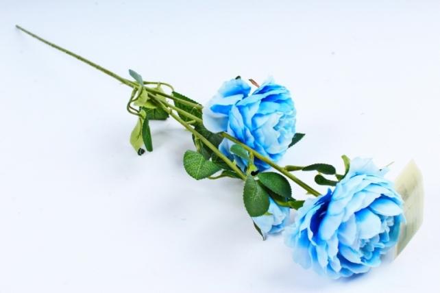 Искусственное растение - Ранункулюс махровый голубой  Тцк