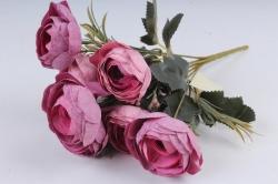 Искусственное растение - Ранункулюс мраморный лиловый Н=33 см Б10880