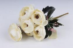 Искусственное растение - Ранункулюс мраморный шампань Н=33 см Б10880