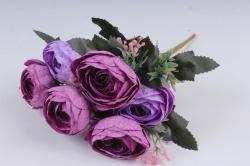 Искусственное растение - Ранункулюс мраморный сиренево-лиловый Н=33 см Б10880