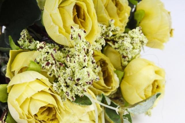 Искусственное растение - Ранункулюс Ретро оливковый
