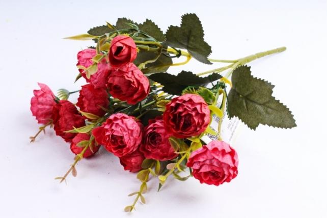 Искусственное растение - Ранункулюс Винтаж красный