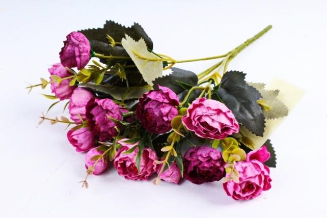 Искусственное растение - Ранункулюс Винтаж пурпурный