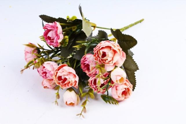 Искусственное растение - Ранункулюс Винтаж розовый