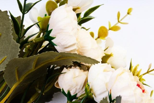 Искусственное растение - Ранункулюс Винтаж шампань