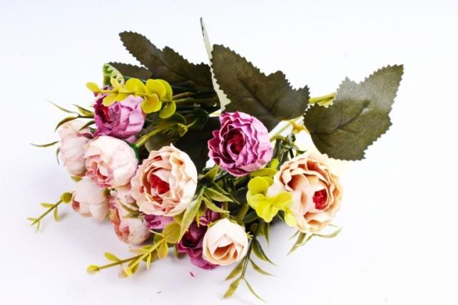 Искусственное растение - Ранункулюс Винтаж шампань/сирень