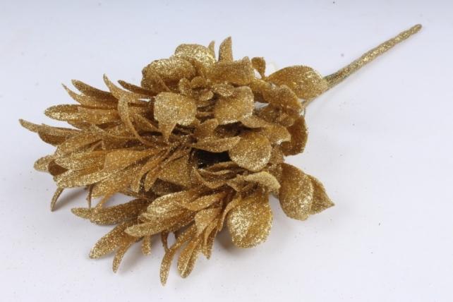 Искусственное растение - Рапис золотой Н=34 см Б10915