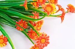 Искусственное растение - Ромашки мелкие оранжевые