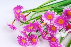 Искусственное растение - Ромашки мелкие сиреневые