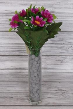 Искусственное растение - Ромашки разноцветные 25 см сиреневые