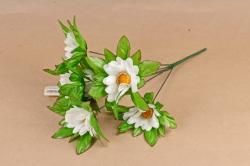 Искусственное растение - Ромашки в розетке Б10793