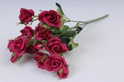 Искусственное растение - Роза Англичанка Н=33 см бордо Б10203
