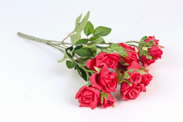 Искусственное растение - Роза Англичанка   красная Б10203