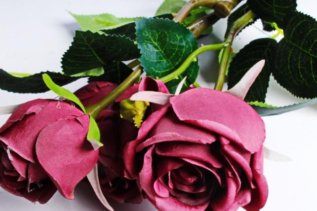 Искусственное растение - Роза бордо  060B