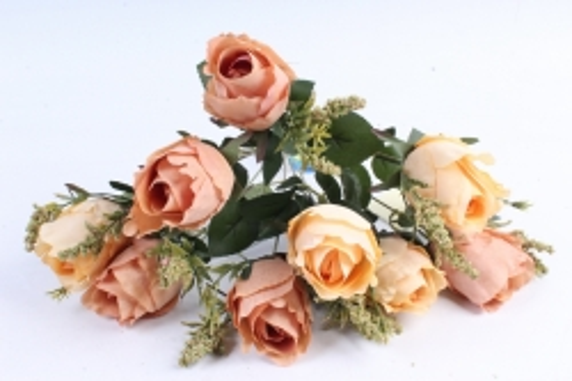 """Искусственное растение - Роза """"Бутоны"""" желто-коричневая"""