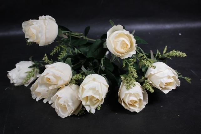 """Искусственное растение - Роза """"Бутоны"""" кремовая"""