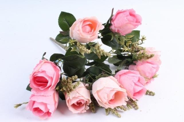 """Искусственное растение - Роза """"Бутоны"""" розовая"""