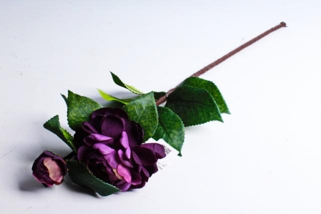 Искусственное растение - Роза фиолетовая  1887