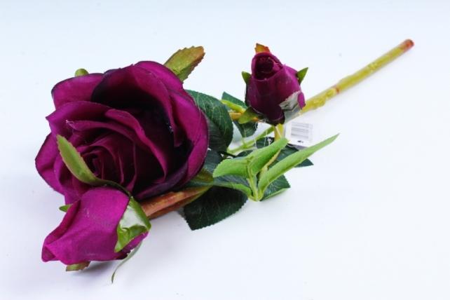 Искусственное растение - Роза фиолетовая  XY2