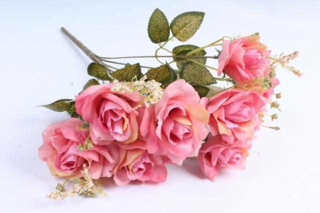 Искусственное растение - Роза французская пыльная роза Н=40 см Тцк