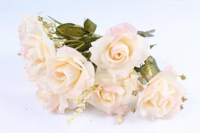 Искусственное растение - Роза французская шампань/розовая Н=40 см Тцк