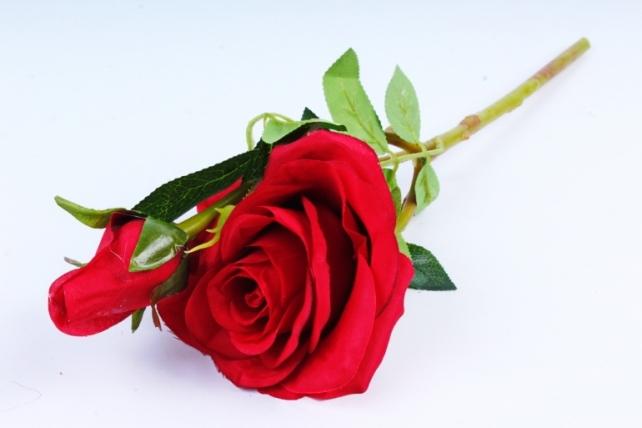 Искусственное растение - Роза красная  XY2