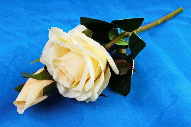 Искусственное растение - Роза кремовая  XY2