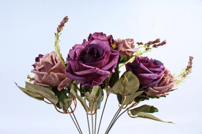 Искусственное растение - Роза Пастель пепельная