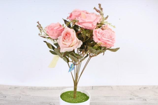 Искусственное растение - Роза Пастель розовая