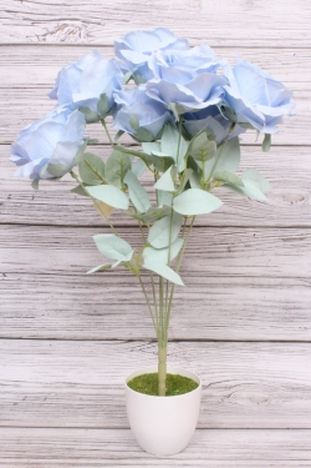 Искусственное растение - Роза пудра голубая Н=50 см Б10986