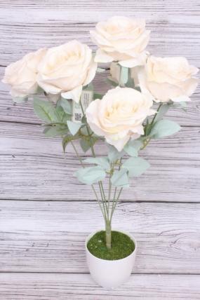 Искусственное растение - Роза пудра кремовая Н=50 см Б10986