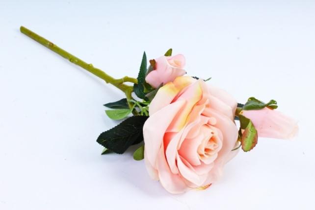 Искусственное растение - Роза розовая  XY2