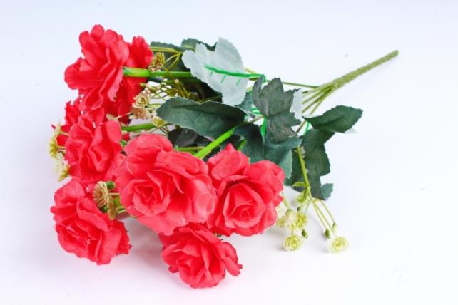 Искусственное растение - Роза садовая красная