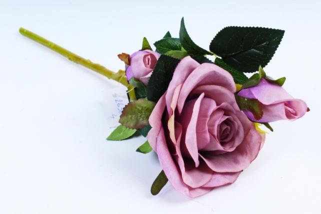 Искусственное растение - Роза сиреневая  XY2