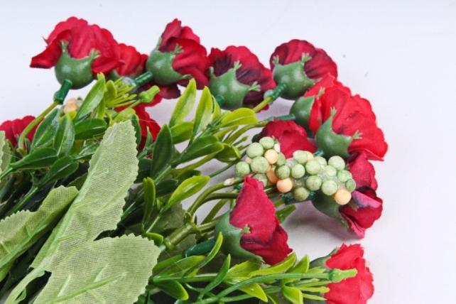 Искусственное растение - Розанчики бордо