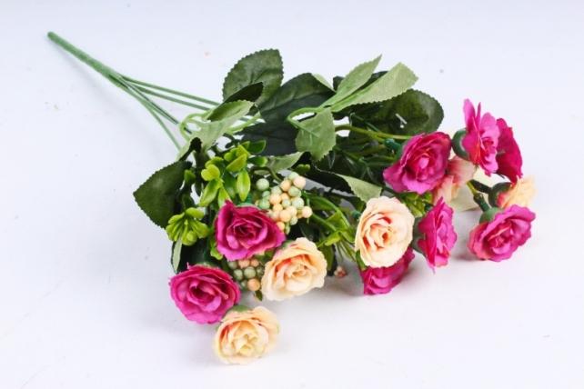 Искусственное растение - Розанчики персиково-малиновые