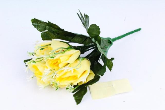 Искусственное растение - Розочки лимонные