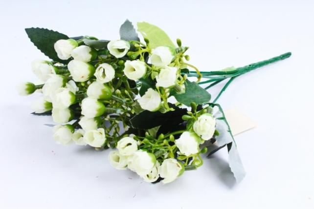 Искусственное растение - Розочки мини белые