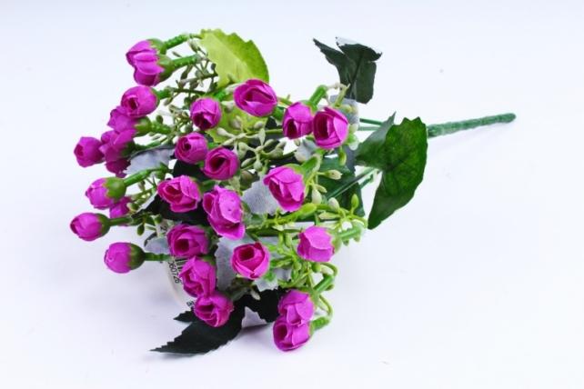 Искусственное растение - Розочки мини фиолетовые
