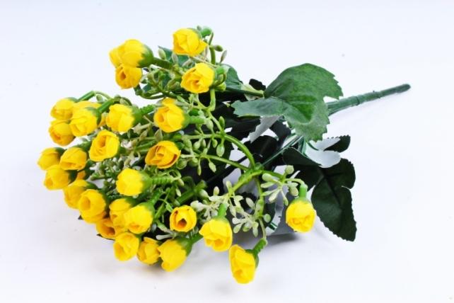 Искусственное растение - Розочки мини жёлтые
