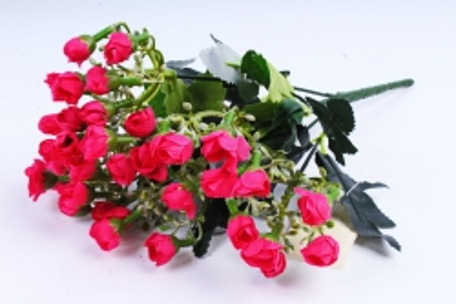 Искусственное растение - Розочки мини малиновые
