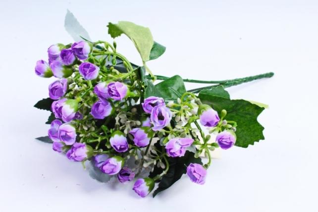 Искусственное растение - Розочки мини сиреневые