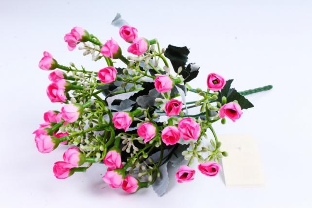 Искусственное растение - Розочки мини ярко-розовые